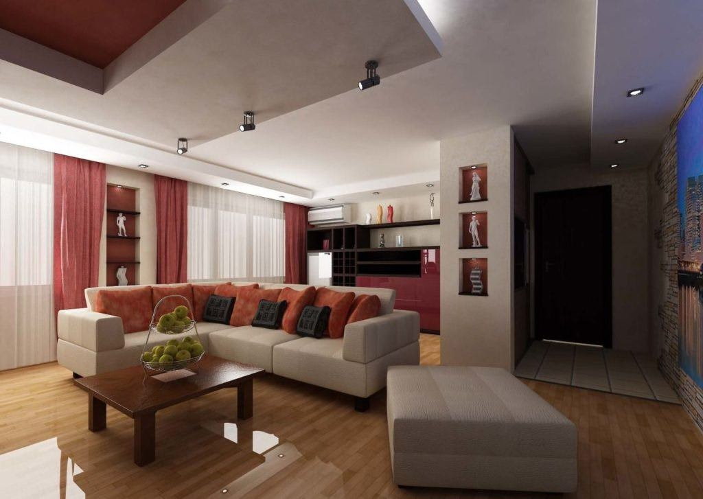 Идеи для ремонта однокомнатных квартир 12