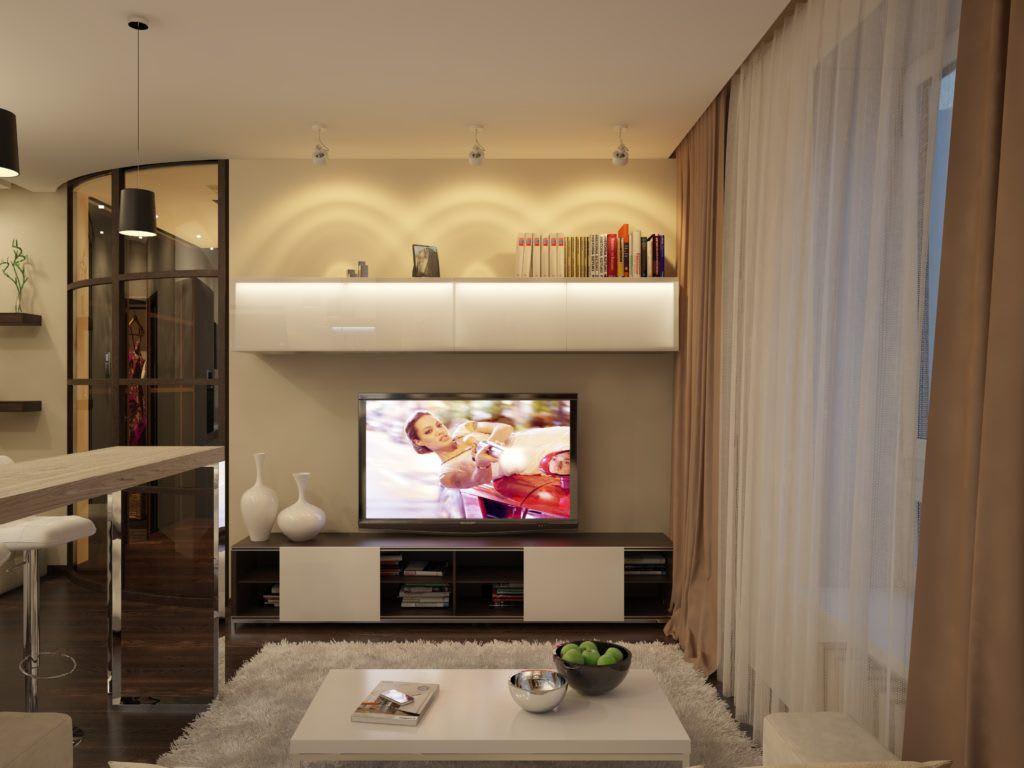 Идеи для ремонта однокомнатных квартир 17