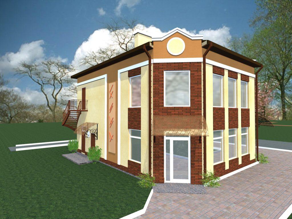 1_Реконструкция фасадов магазина ( г. Буча )
