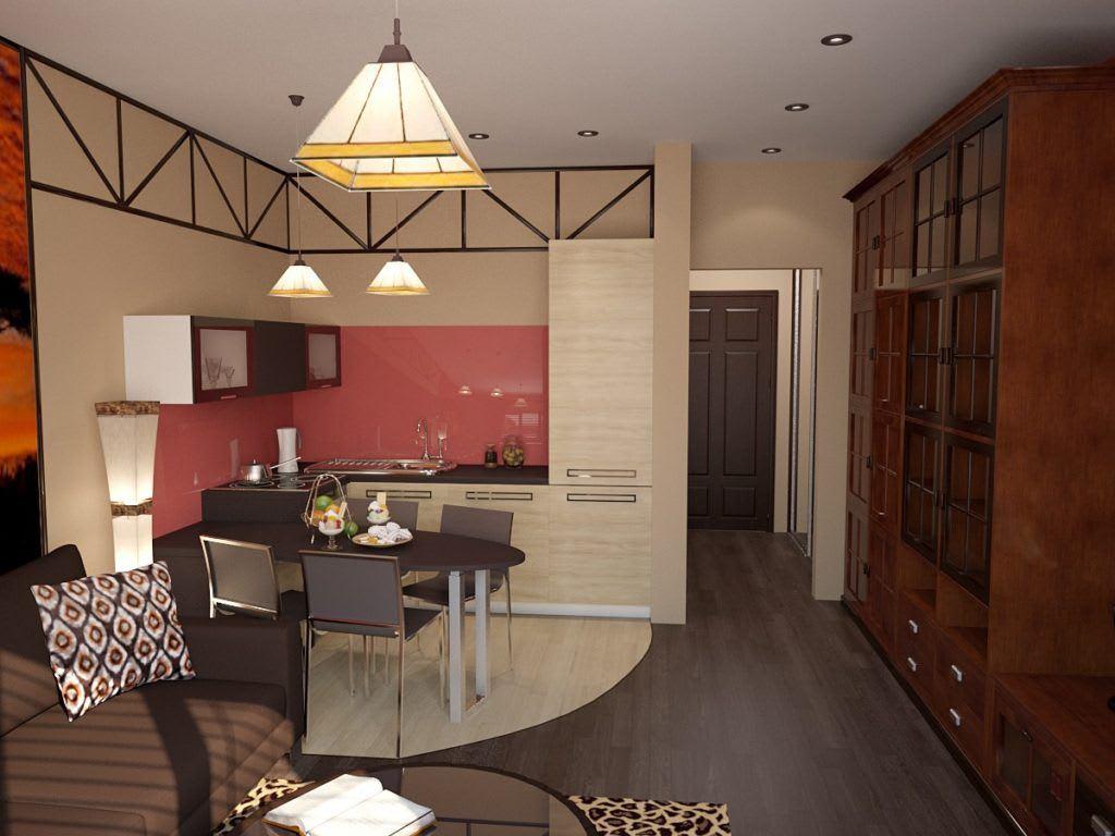 Идеи для ремонта однокомнатных квартир 23