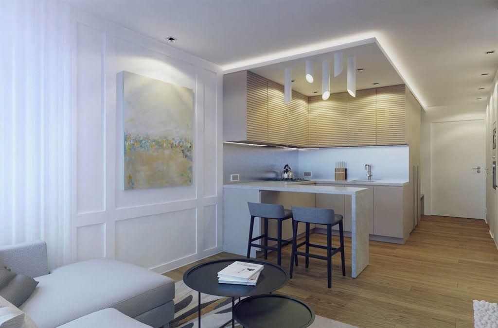 Идеи для ремонта однокомнатных квартир 3