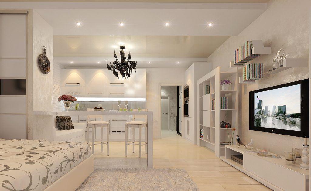Идеи для ремонта однокомнатных квартир 7