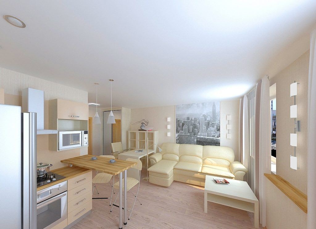Идеи для ремонта однокомнатных квартир 8