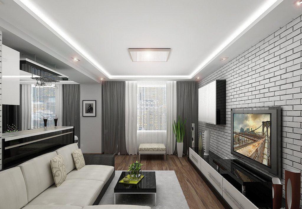 Идеи для ремонта однокомнатных квартир 9